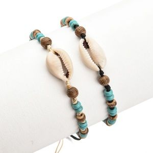 2 Bohemian Shell Bracelet